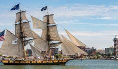 The U.S. Brig Niagara sails on Presque Isle Bay