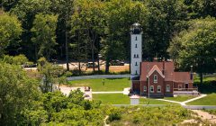 Aerial view of Presque Isle Lighthouse