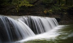 A waterfall at Wintergreen Gorge in Harborcreek Township