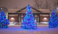 Downtown Erie's Perry Square at Christmastime