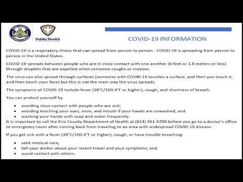 Covid-19 Informational in English