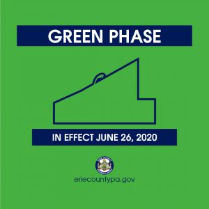 Erie County moves into the green phase June 26.
